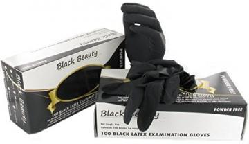 Latexhandschuhe schwarz, Premium Qualität 100pcs Gr.M